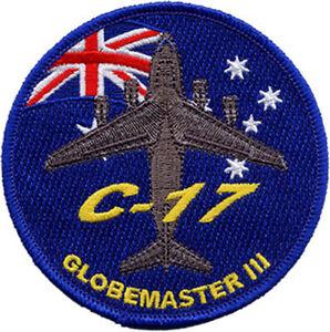 C-17 Globemaster III + Australian Flag RAAF Embroidered Patch