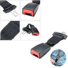 2 Pcs 23cm/9'' 2.1cm Car Seat Belt Extenders Buckle Safety Belt Durable Black