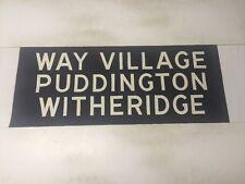 "Devon Vintage Bus Blind 1966 33"" 2- Way Village Puddington Witheridge"