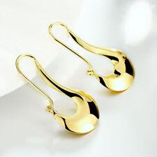 Fashion Womens Gold Filled 48mm Long Vogue Hoop Pierced Earrings #E253