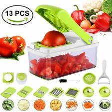 13 PCS Nicer Dicer Plus Super Slicer Fruit Vegetable Peeler Chopper Grater TO