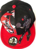 Chicago New Greatest MJ 23 Jordan Bulls Black Red Dunk Era Snapback Hat Cap