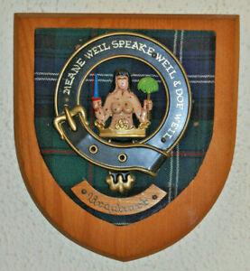 Clan Urquhart wall plaque shield crest scottish Scotland tartan