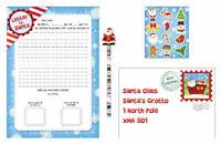 Letter To Santa Kit - Toy Stocking Bag Filler Santa Colouring