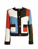 C' East Commeca By Moschino Jacket Vintage Check Patchwork Wool Brown
