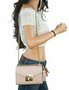 MICHAEL KORS ROSE SMALL SIGNATURE MINI CROSSBODY BAG PVC LEATHER MK BALLET