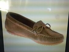 NEW Minnetonka Moccasin Men's Soft Suede Classic Slip-On Brown #917T Size 11