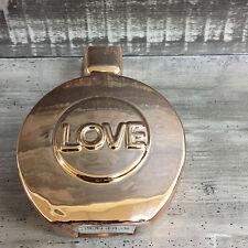 Spardose Parfume Flacon Silber/Gold Sparschwein 16,5 cm
