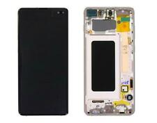 Display Lcd Touch Originale Samsung Galaxy S10 plus G975 SM-G975F BIANCO SERVICE