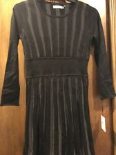 Calvin Klein Black & Grey Long Sleeved Sweater Dress