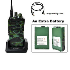 25W UHF 400-480 MHz FM Ham Two-way Radio Handheld Walkie Talkie 4000 mAh Battery