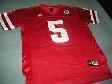Nebraska Cornhuskers Adidas Football Jersey Youth X-Large 18-20 Mint!