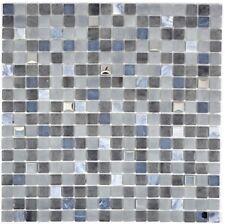Glasmosaik schwarz Fliesenspiegel Küche Wandverkleidung Bad 91-0334 | 10 Matten