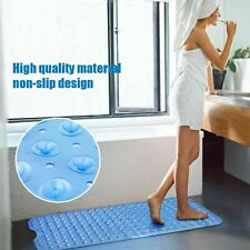 Safety Extra Long Bathroom Non Slip Mat Soft Shower Bathtub Mat with Suction Cup