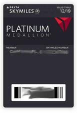 Delta Medallion Platinum3-Month Challege Skyteam Elite Plus Status Feb 2022