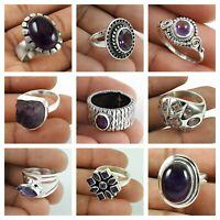 Amethyst Gemstone Rings Size 7 925 Sterling Silver Woman Gift Handmade Jewelry