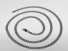 """14KT Solid White Gold Comfort Curb 30"""" 3.8 MM 10 GRAMS  Chain/Necklace WCRB100"""