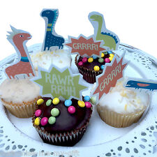 10 Dinosaur Edible Pop Top Cupcake Toppers | Birthday Cake decoration