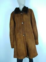 SHEARLING MONTONE SHEEPSKIN Cappotto Giubbotto Jacket Giacca Tg It: 46 Donna
