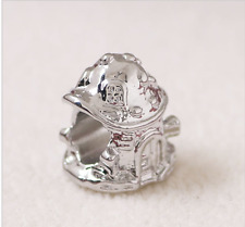 FAVOLA Fungo House Charm Perline Charms Perline Argento Toadstool PD diapositiva UK
