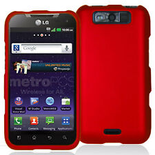 Red Snap-On Hard Case Cover for LG Connect 4G MS840