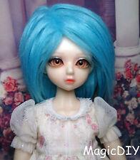 "7-8"" 18-19cm BJD Doll fabric fur wig Sky Blue bjd hair for 1/4 bjd dolls"