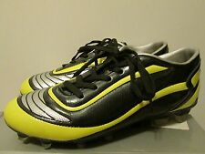Vizari Finale FG Black Yellow Silver Soccer Cleats Size 8.5 Used Only Once