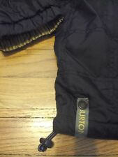 BURTON HOODED SNOW SKI SNOWBOARD QUILTED LONG BLACK COAT JACKET XL WINTER CUTE!