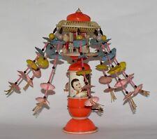 HIBIKI JAPAN CLOCKWORK NURSERY TOY CAROUSEL c1930