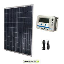 Kit solare pannello fotovoltaico 100W regolatore di carica EpSolar 10A prese USB
