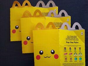 Pokemon McDonalds Happy Meal Pikachu Box