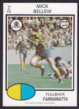 Parramatta Eels 1975 Season NRL & Rugby League Trading Cards