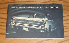 Original 1965 AMC Rambler Ambassador Owners Operators Manual 65