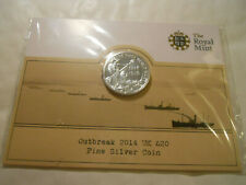 2014 UK 100Y 1914 OUTBREAK OF WAR WW1 20 POUNDS SILVER COIN £20
