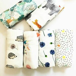 Muslin Blankets Swaddle Bamboo Cotton Newborn Bath Towel Swaddle MultiFunctions