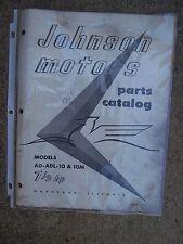 1956 Johnson Outboard 7 1/2 Hp Ad Adl 10 10M Origl Parts Catalog More In Store L