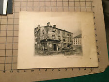 Original PRINT - ETCHING - SIGNED - HENRY R BLANEY - 1893 - NORTH & LEWIS BOSTON