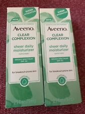 Lot of 2 AVEENO CLEAR COMPLEXION DAILY MOISTURIZER 2.5 OZ EACH 07/21