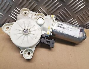 03-12 Saab 9-3 Convertible Window Motor Left side Front Two pin 12830389