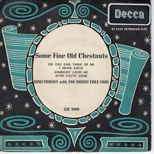 7inch BING CROSBY & THE BUDDY COLE TRIO some fine old chestnuts EP UK   (S1417)