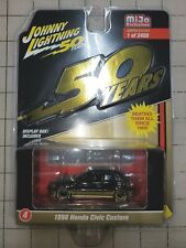 Johnny Lightning 50 Year 1998 Honda Civic Custom Black Mijo Exclusive