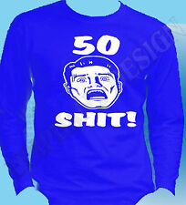 50th Birthday Shirt Long Sleeve Any Year Fifty Years Old 55th 45th 40th 21st