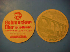 Beer Bar Coaster ~*~ Privat-Brauerei Schmucker ~ Viadukt bel Hetzbach ~ GERMANY