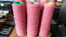Pink 100% Virgin Wool Weaving, Knitting, Crocheting