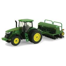 John Deere 1/64 Scale 7215R Diecast Tractor & Grain Drill Ertl Farm Toy TBE45433