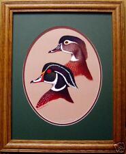 Ducks Unlimited/Duck Decoy/Wildlife Art/Home Decor/Wood Ducks/Limited Edition/NR