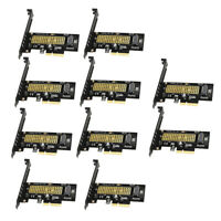10x M.2 NVMe SSD to PCIE X4 Adapter M Key Card PCI Express 3.0 x4 2230-2280