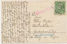 "ÖSTERREICH ORTSSTEMPEL ""BÖHM. LEIPA"" (Böhmen) K2 u. lila L1 ""Überprüft"" 1914"