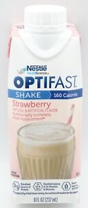 OPTIFAST 800 - READY TO DRINK SHAKES - STRAWBERRY - 24 SERVINGS - NEW & FRESH