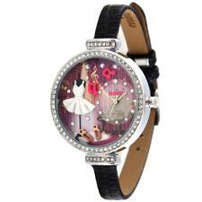 Ballet Music Theme Fashion Watch |3D Picture Crystal Rhinestone Purple Ballerina